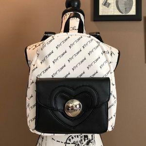 Betsey Johnson Heart Lock Backpack